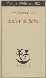 Libro Lettere di Babet Edme Boursault