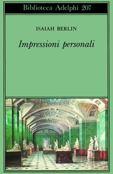 Impressioni personali - Isaiah Berlin - copertina
