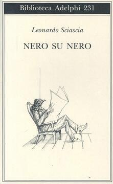 Nero su nero - Leonardo Sciascia - copertina