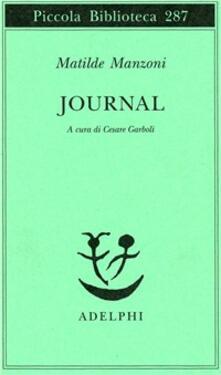 Journal - Matilde Manzoni - copertina