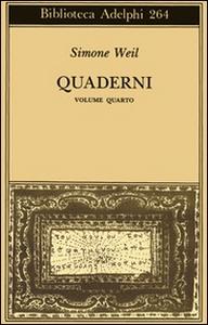 Libro Quaderni. Vol. 4 Simone Weil