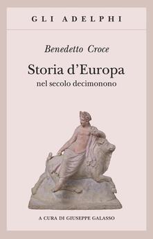 Storia d'Europa nel secolo decimonono - Benedetto Croce - copertina