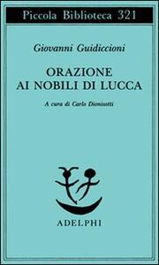 Orazione ai nobili di Lucca