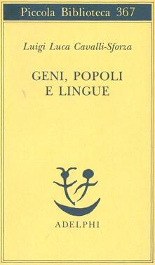 Geni, popoli e lingue - Luigi Luca Cavalli-Sforza - copertina