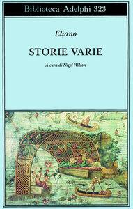 Libro Storie varie Claudio Eliano