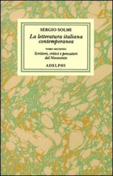 Promoartpalermo.it Opere. Vol. 3\2: La letteratura italiana contemporanea.Scrittori, critici e pensatori del Novecento. Image