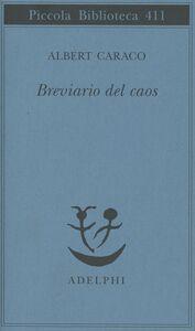 Libro Breviario del caos Albert Caraco