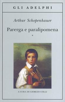 Parerga e paralipomena - Arthur Schopenhauer - copertina