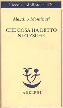 Amatigota.it Che cosa ha detto Nietzsche Image