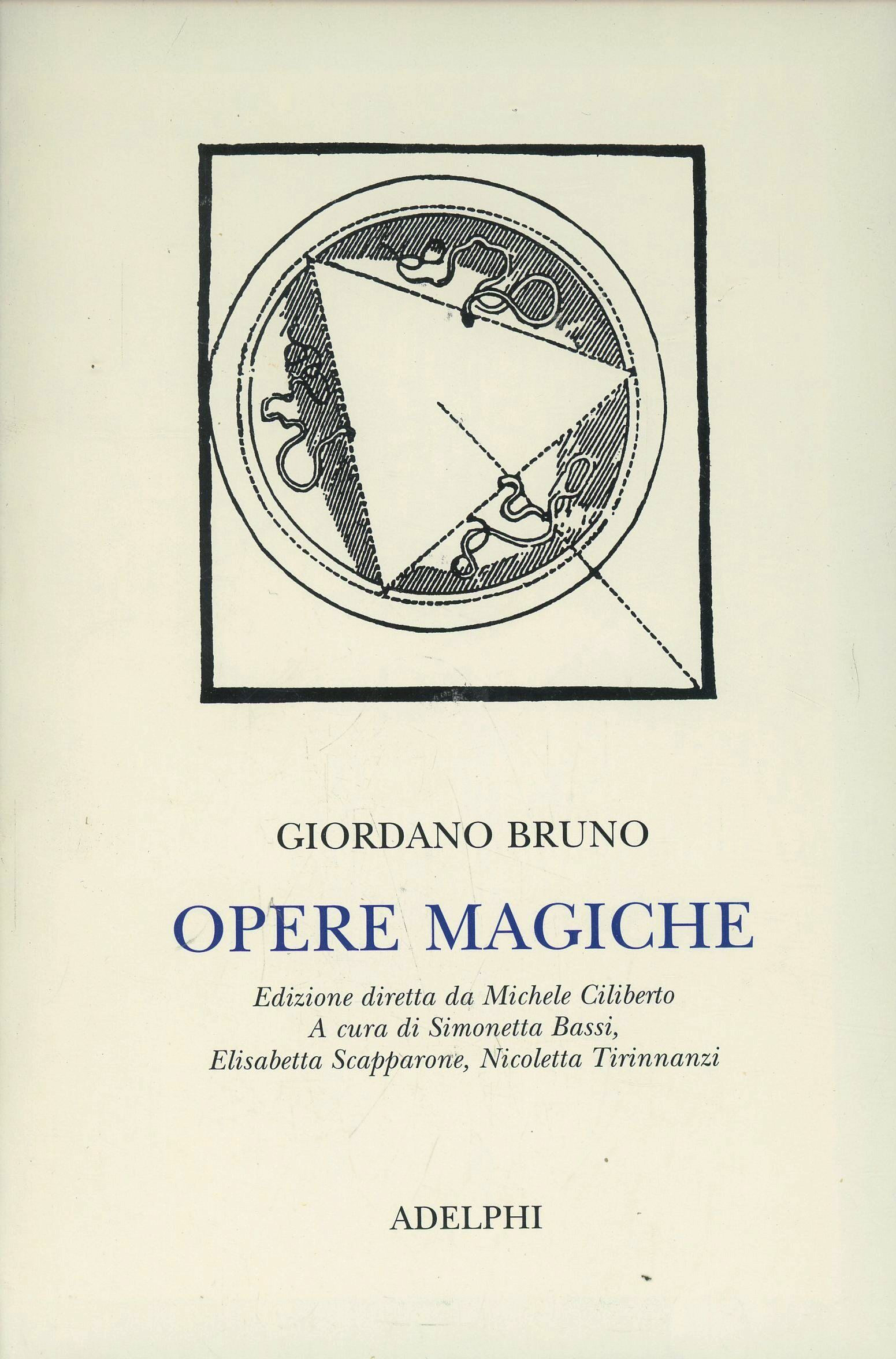 giordano bruno essays on magic