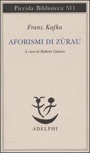 Aforismi di Zürau - Franz Kafka - copertina