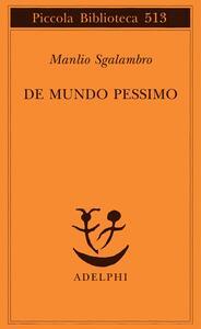 De mundo pessimo - Manlio Sgalambro - copertina