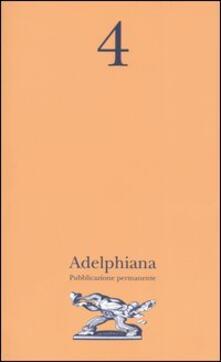 Aboutschuster.de Adelphiana. Pubblicazione permanente. Vol. 4 Image