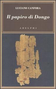 Il papiro di Dongo - Luciano Canfora - copertina
