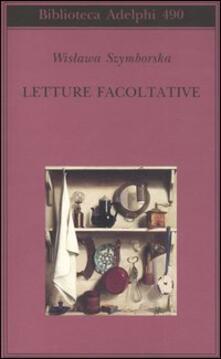 Letture facoltative - Wislawa Szymborska - copertina