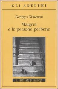 Maigret e le persone perbene - Georges Simenon - copertina
