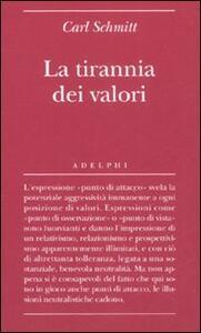 La tirannia dei valori - Carl Schmitt - copertina