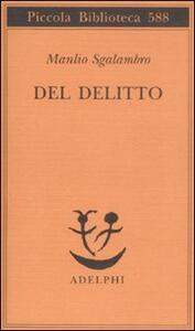 Del delitto - Manlio Sgalambro - copertina
