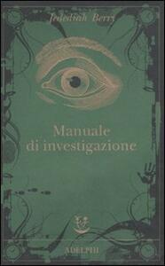 Manuale di investigazione - Jedediah Berry - copertina