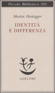 Identità e differenza - Martin Heidegger - copertina