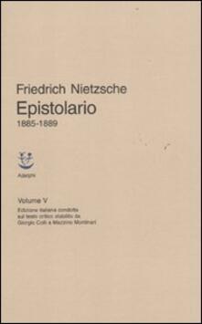 Epistolario 1885-1889. Vol. 5 - Friedrich Nietzsche - copertina