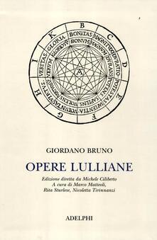Premioquesti.it Opere lulliane. Testo latino a fronte Image