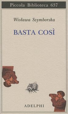 Basta così - Wislawa Szymborska - copertina