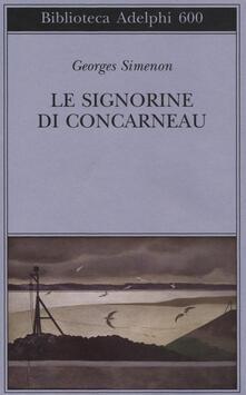 Le signorine di Concarneau - Georges Simenon - copertina