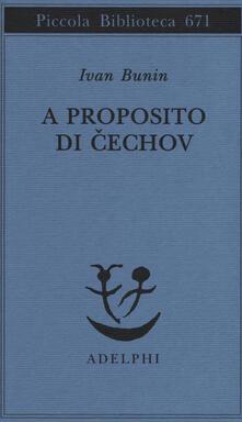 A proposito di Cechov - Ivan A. Bunin - copertina