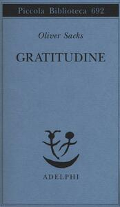 Gratitudine - Oliver Sacks - copertina