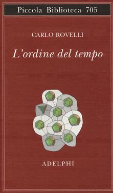 L' ordine del tempo - Carlo Rovelli - copertina
