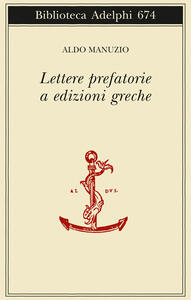 Lettere prefatorie a edizioni greche - Aldo Manuzio - copertina