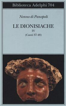 Adiaphora.it Le dionisiache. Vol. 4: Canti 37-48. Image