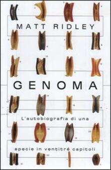 Genoma. L'autobiografia di una specie in ventitré capitoli - Matt Ridley - copertina
