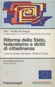Riforma dello Stato, federalismo e diritti di cittadinanza - copertina