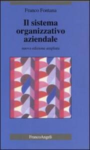 Il sistema organizzativo aziendale - Franco Fontana - copertina