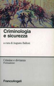 Criminologia e sicurezza - copertina