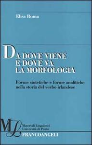 Da dove viene e dove va la morfologia. Forme sintetiche e forme analitiche nella storia del verbo irlandese - Elisa Roma - copertina
