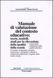 Manuale di valutazione del contesto educativo. Teorie, modelli, studi per la rilevazione della qualità nella scuola - copertina