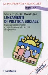 Libro Lineamenti di politica sociale Mara Tognetti Bordogna