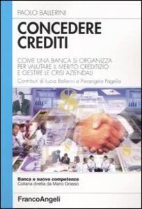 Libro Concedere crediti. Come una banca si organizza per valutare il merito creditizio e gestire le crisi aziendali Paolo Ballerini