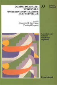 Libro Quadri di analisi regionale. Prospettive di interazione multisettoriale