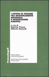 Libro I sistemi di welfare tra decentramento regionale e integrazione europea