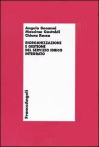 Libro Riorganizzazione e gestione del servizio idrico integrato Angelo Bonanni , Massimo Gastaldi , Chiara Rocca