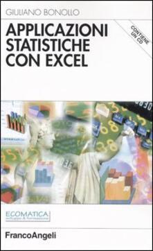 Voluntariadobaleares2014.es Applicazioni statistiche con Excel. Con CD-ROM Image