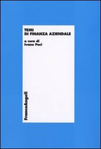 Foto Cover di Temi di finanza aziendale, Libro di  edito da Franco Angeli