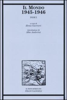 Rallydeicolliscaligeri.it Il Mondo 1945-1946. Indici Image
