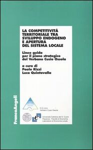 Libro La competitività territoriale tra sviluppo endogeno e apertura del sistema locale. Linee guida per il piano strategico del Verbano Cusio Ossola