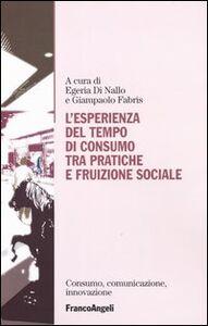 Foto Cover di L' esperienza del tempo di consumo, tra pratiche e fruizione sociale, Libro di  edito da Franco Angeli