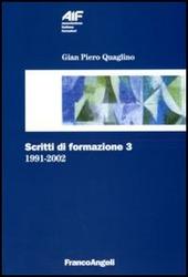 Scritti di formazione (1991-2002). Vol. 3